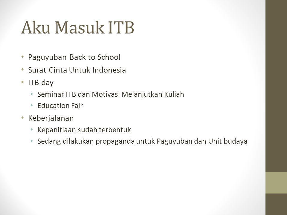Aku Masuk ITB Paguyuban Back to School Surat Cinta Untuk Indonesia