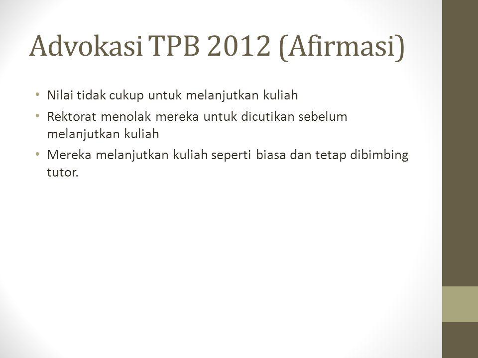Advokasi TPB 2012 (Afirmasi)