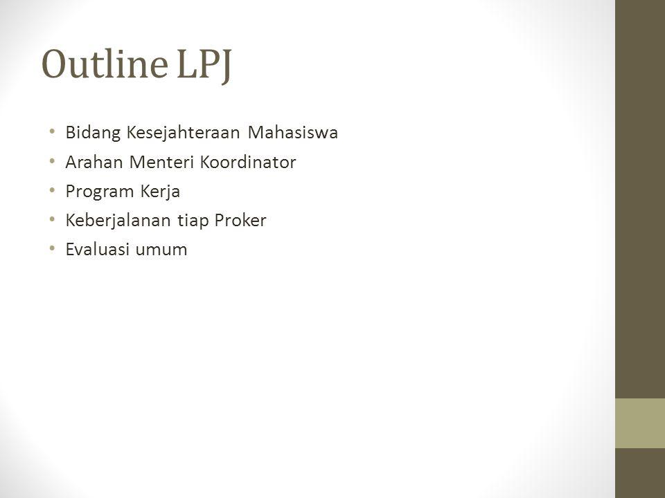 Outline LPJ Bidang Kesejahteraan Mahasiswa Arahan Menteri Koordinator