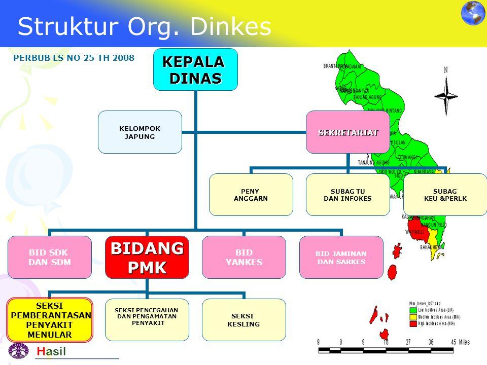 Struktur Org. Dinkes PERBUB LS NO 25 TH 2008 Hasil