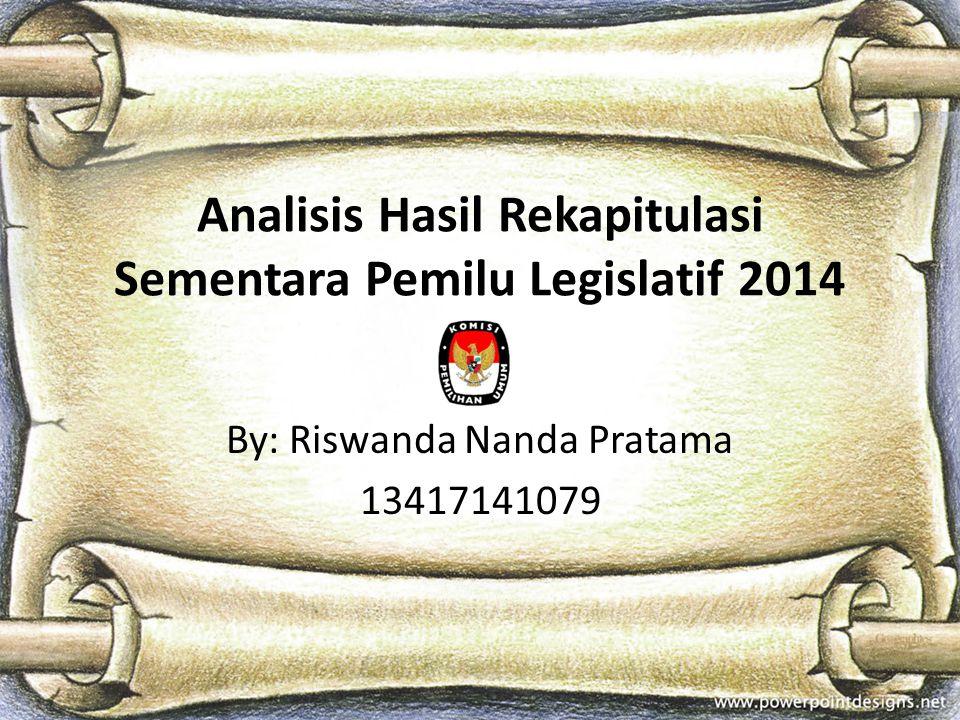 Analisis Hasil Rekapitulasi Sementara Pemilu Legislatif 2014
