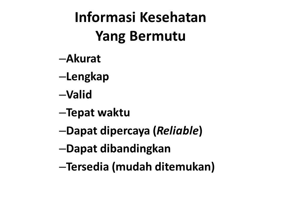 Informasi Kesehatan Yang Bermutu