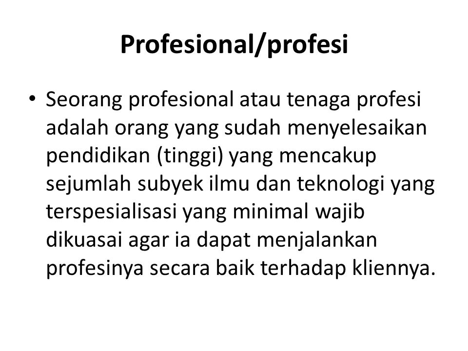 Profesional/profesi