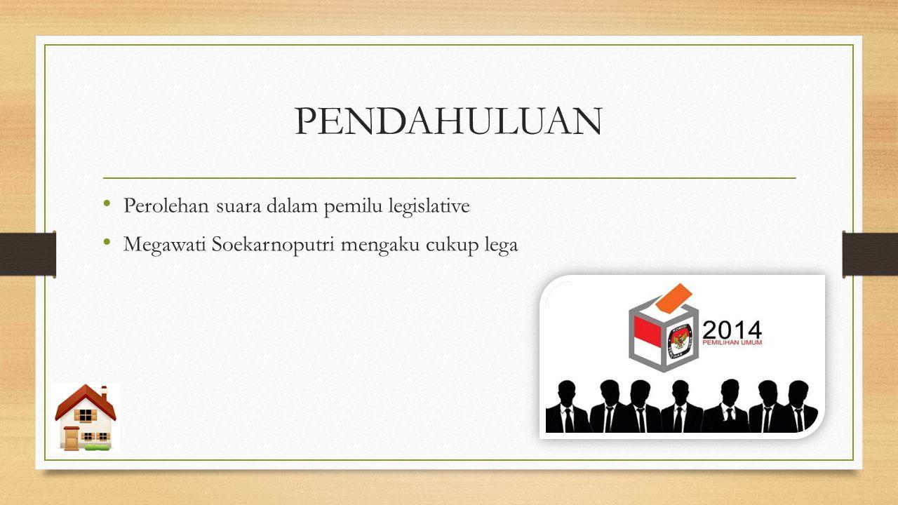 PENDAHULUAN Perolehan suara dalam pemilu legislative