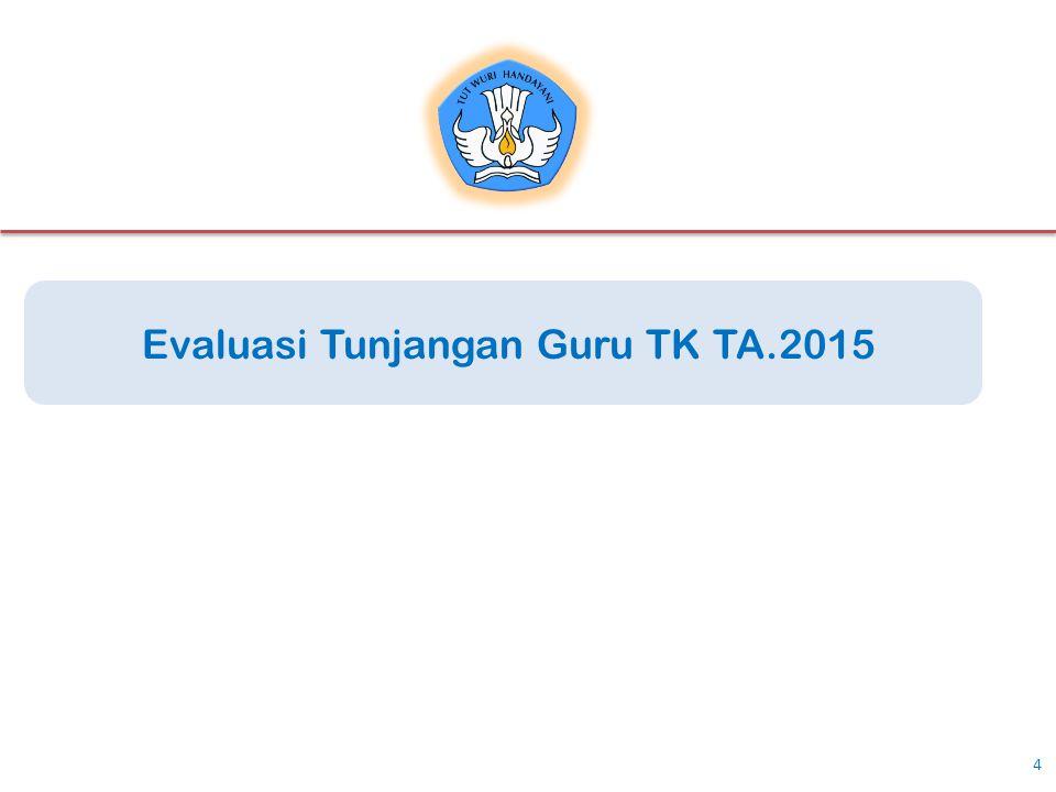 Evaluasi Tunjangan Guru TK TA.2015