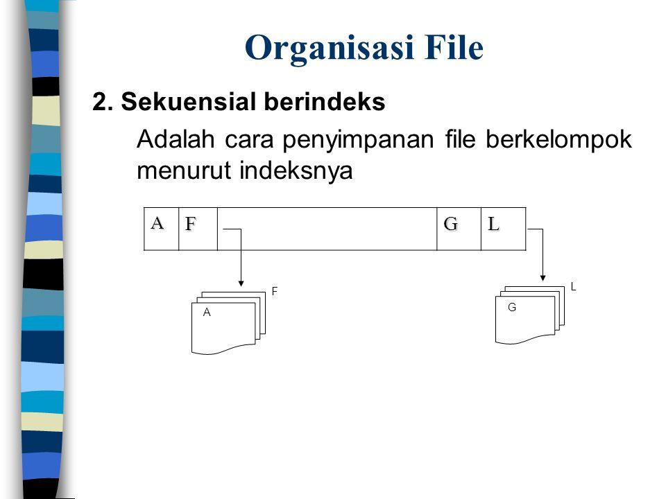 Organisasi File 2. Sekuensial berindeks