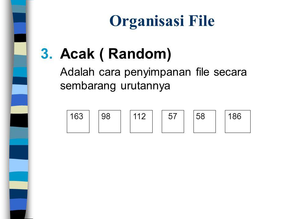 Organisasi File Acak ( Random)