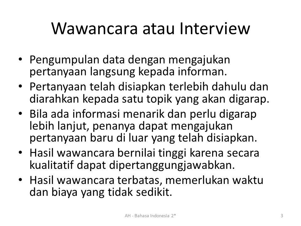 Wawancara atau Interview