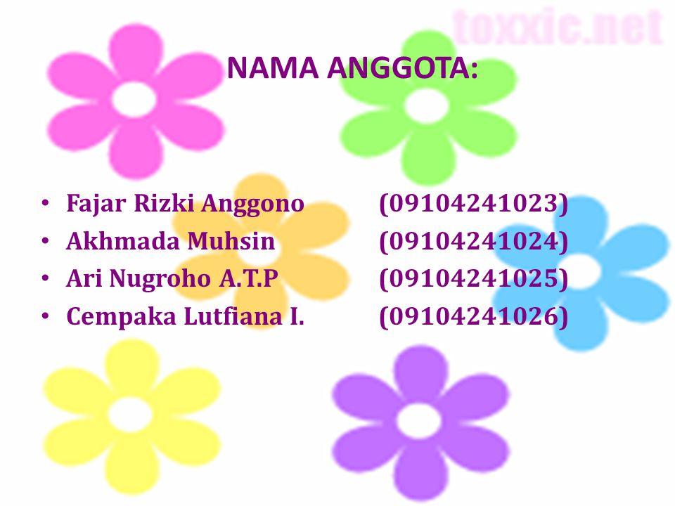 NAMA ANGGOTA: Fajar Rizki Anggono (09104241023)