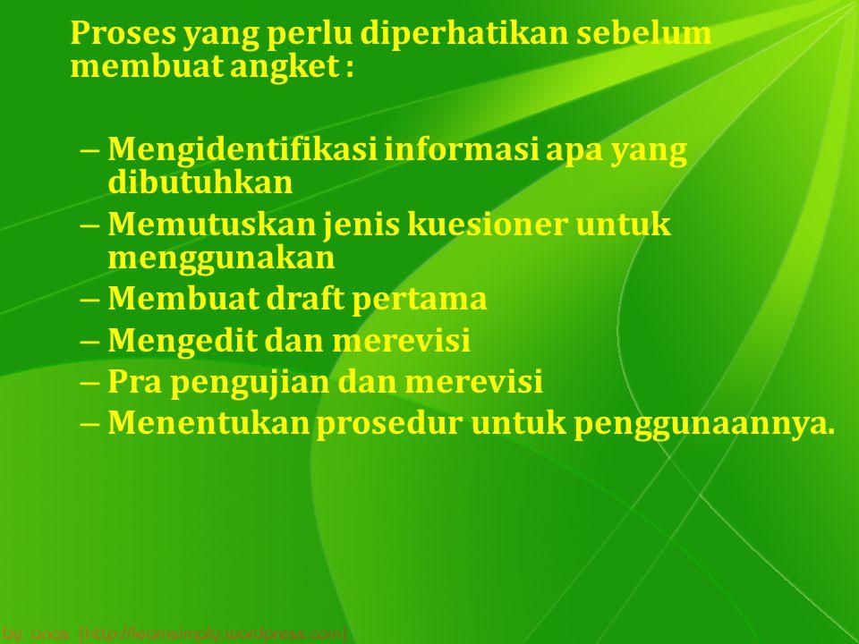 Mengidentifikasi informasi apa yang dibutuhkan