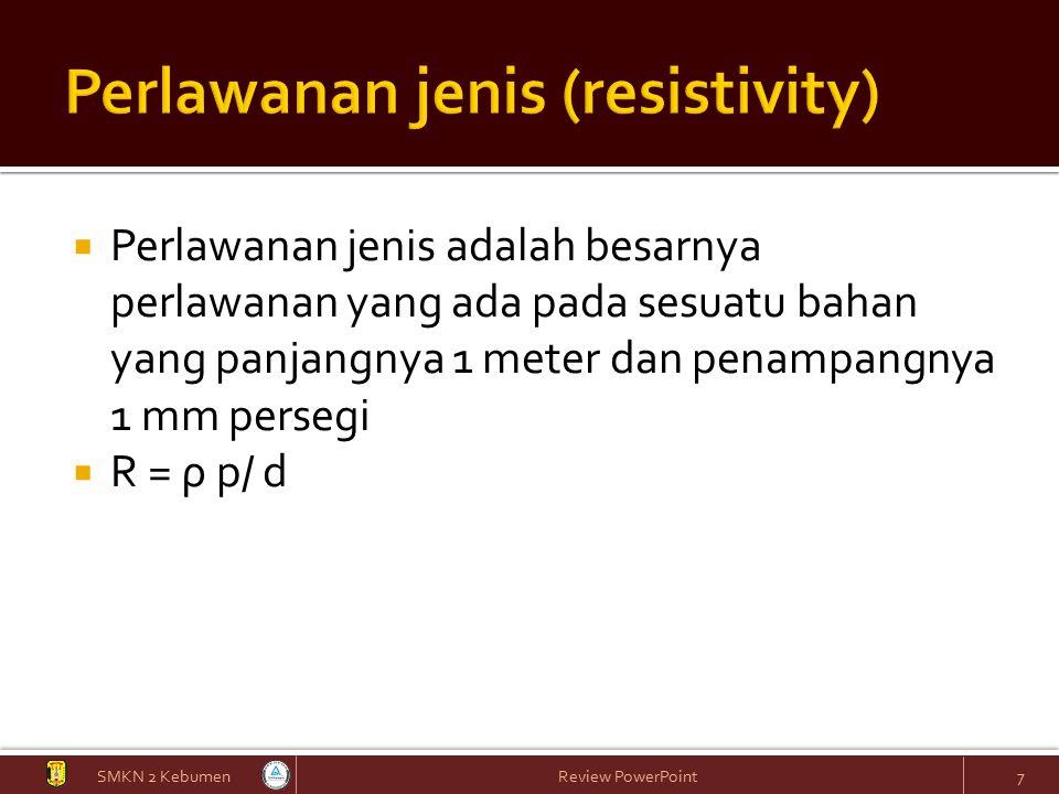 Perlawanan jenis (resistivity)