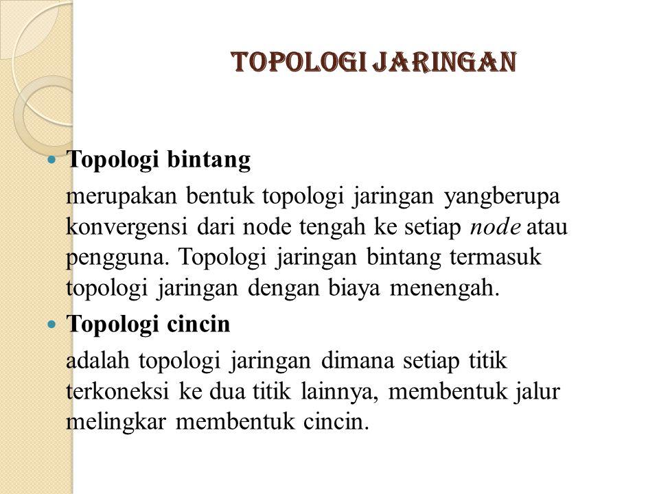 Topologi Jaringan Topologi bintang