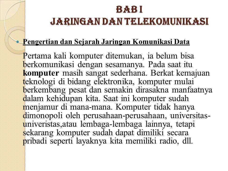 Bab I Jaringan dan Telekomunikasi