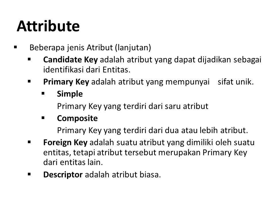 Attribute Beberapa jenis Atribut (lanjutan)