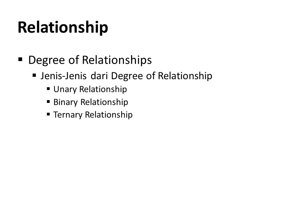 Relationship Degree of Relationships