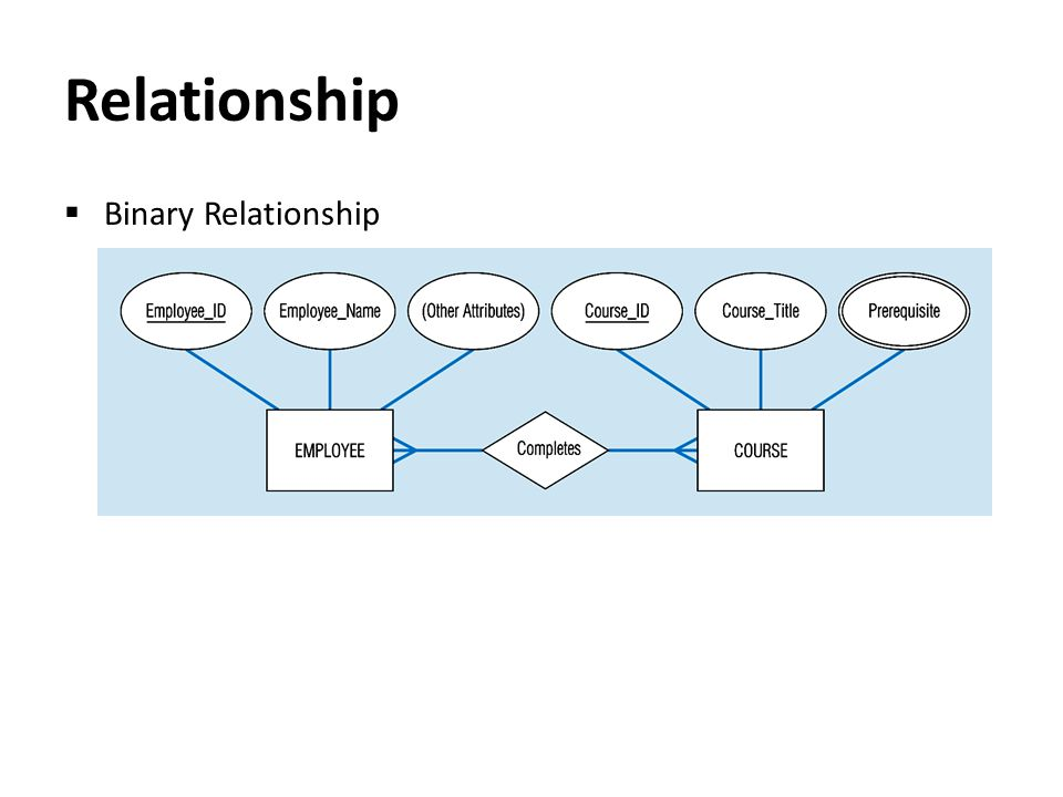 Relationship Binary Relationship