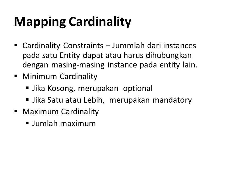 Mapping Cardinality