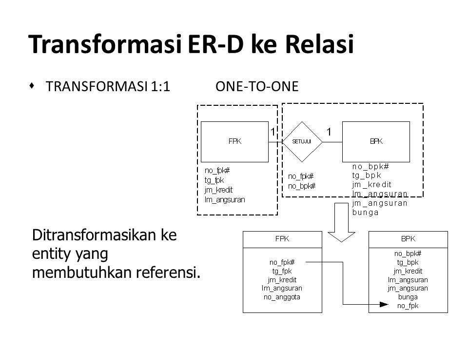 Transformasi ER-D ke Relasi