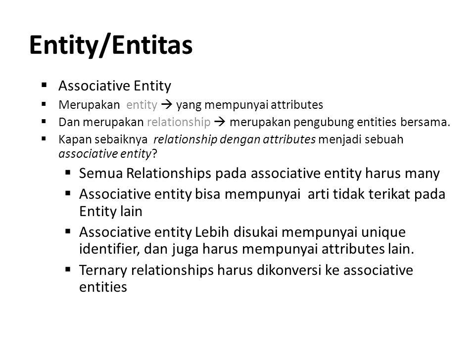 Entity/Entitas Associative Entity