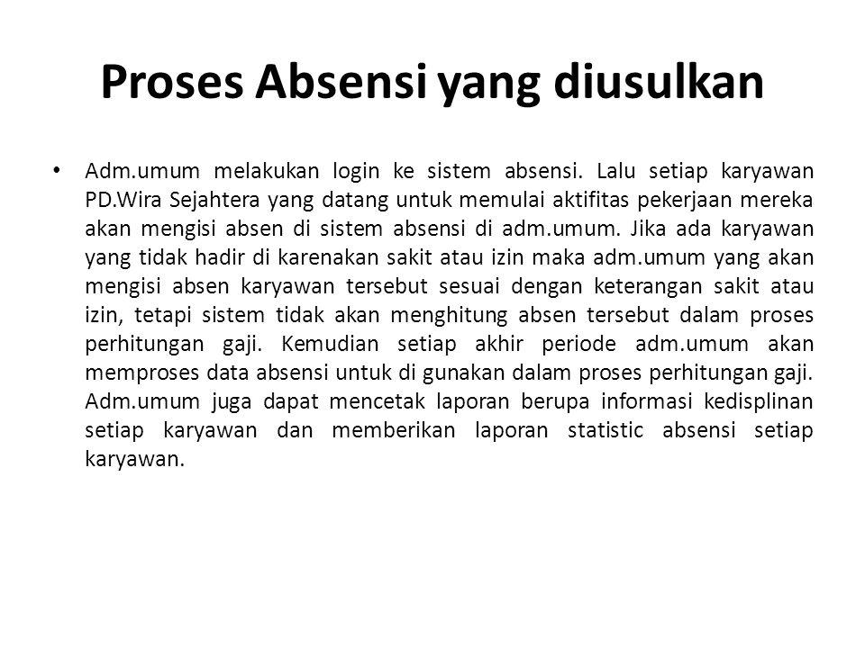 Proses Absensi yang diusulkan