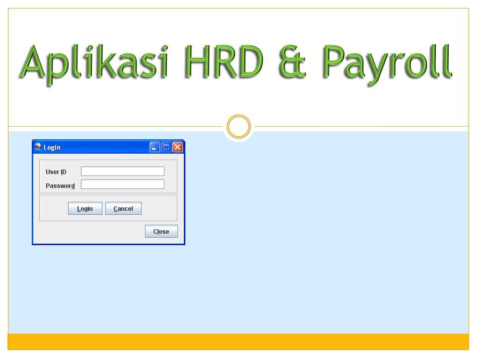 Aplikasi HRD & Payroll