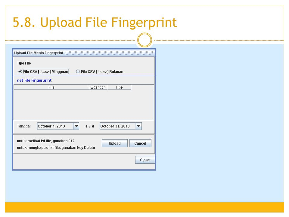 5.8. Upload File Fingerprint