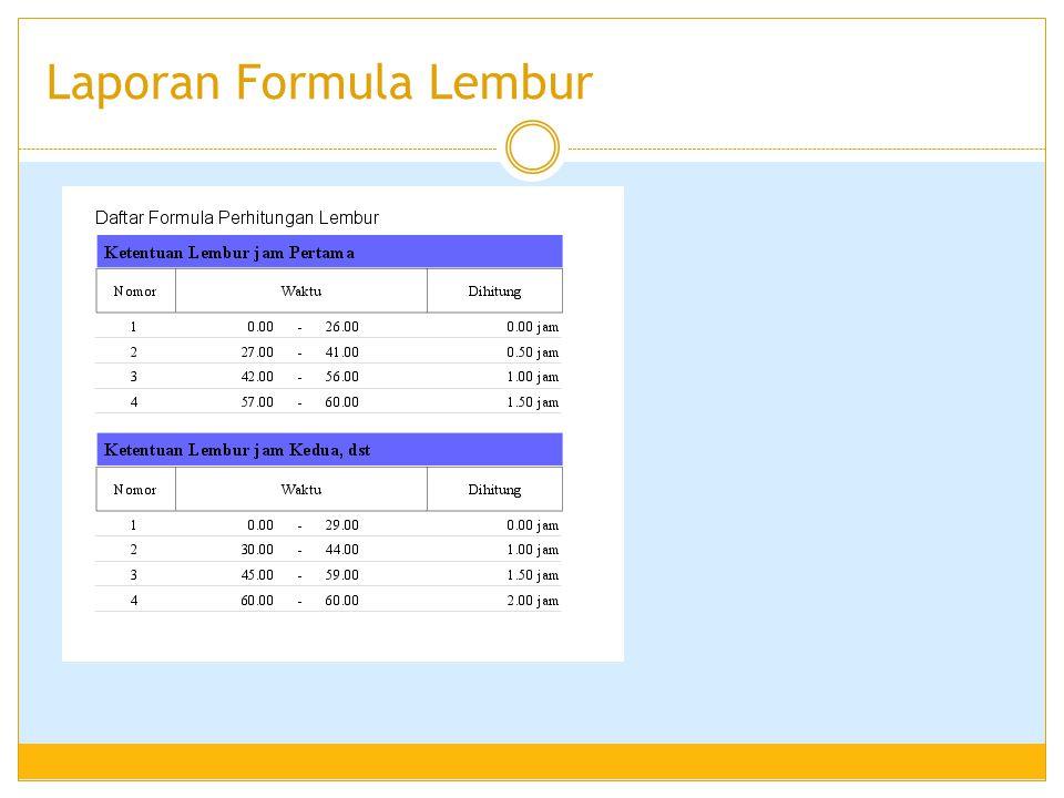 Laporan Formula Lembur