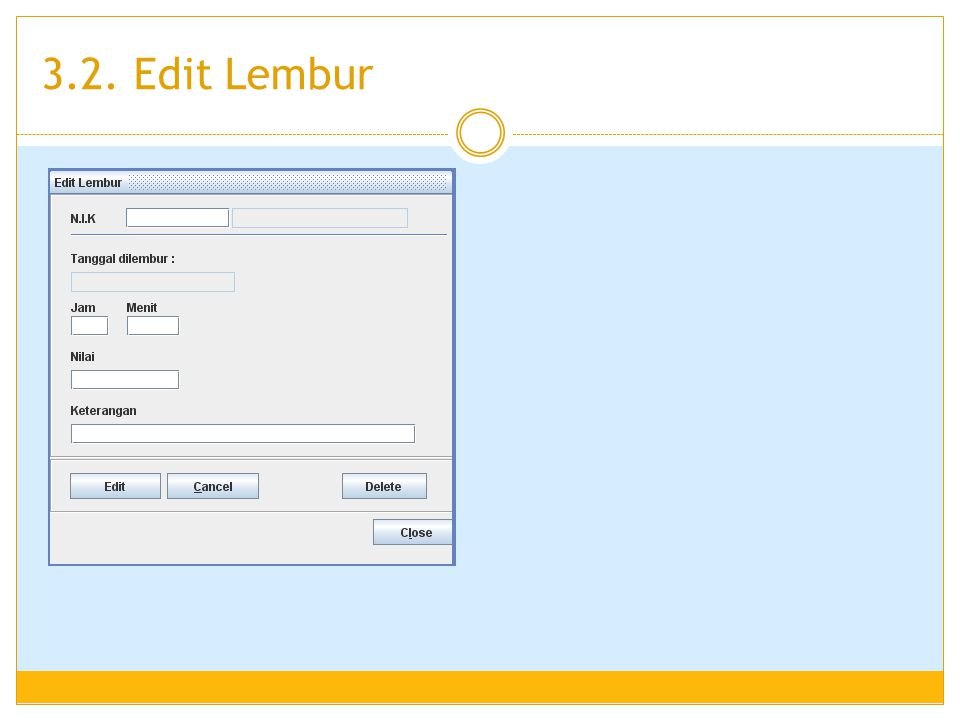 3.2. Edit Lembur