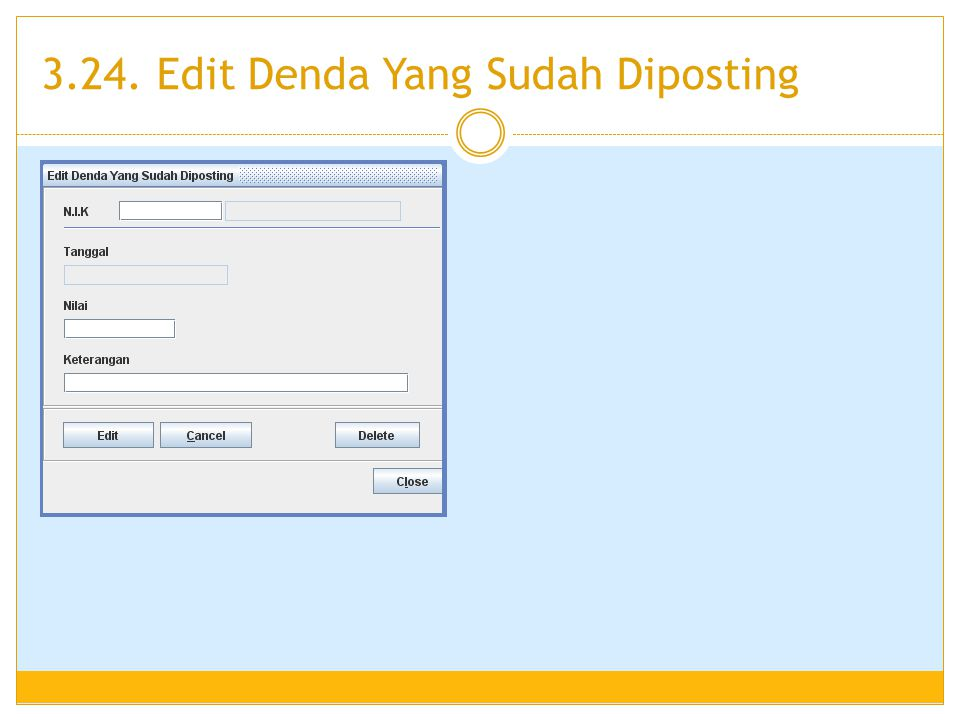 3.24. Edit Denda Yang Sudah Diposting