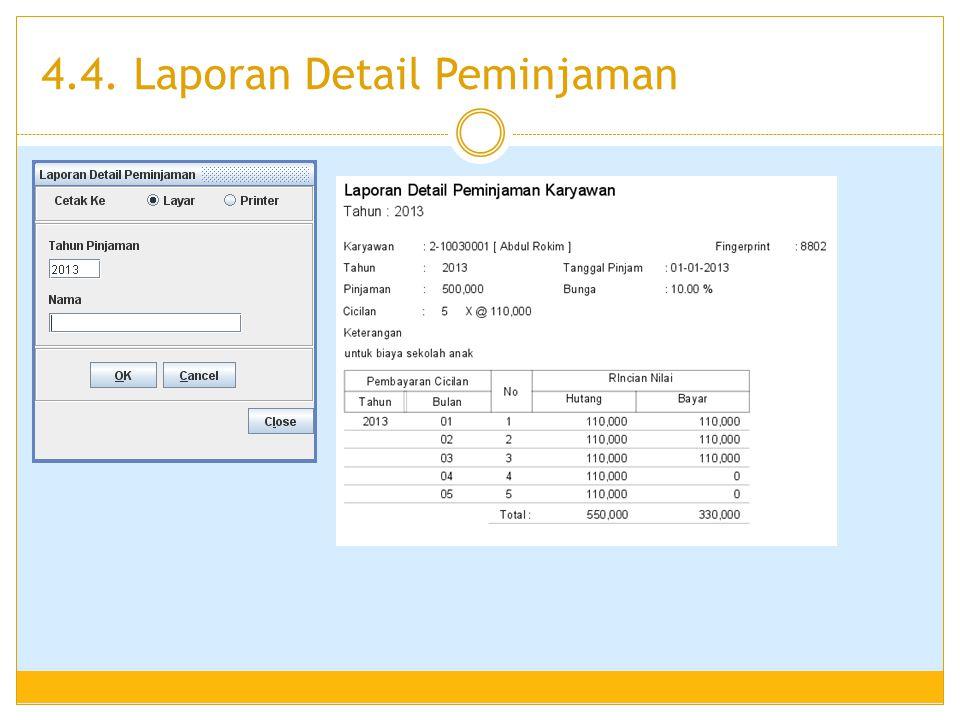 4.4. Laporan Detail Peminjaman