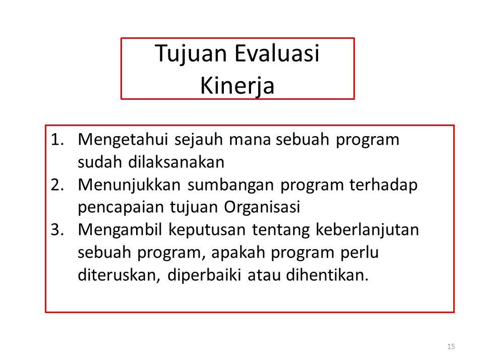 Tujuan Evaluasi Kinerja