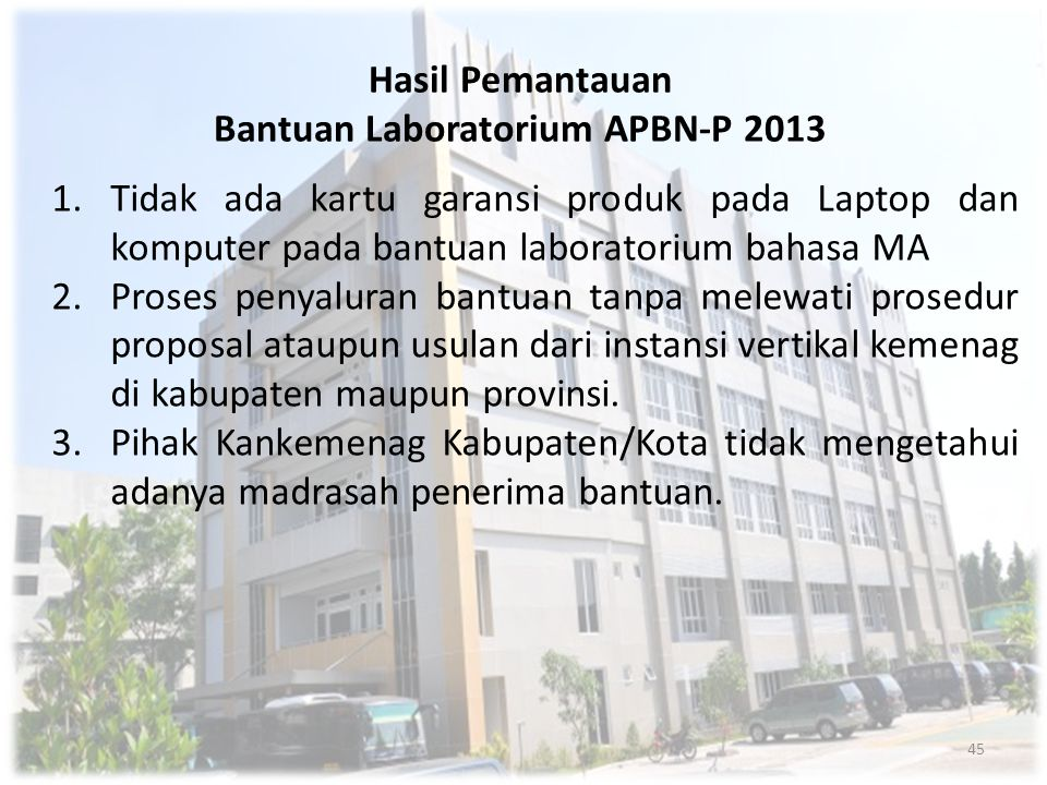 Bantuan Laboratorium APBN-P 2013