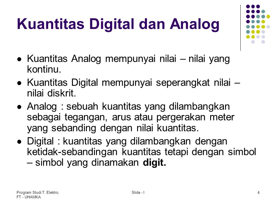 Kuantitas Digital dan Analog