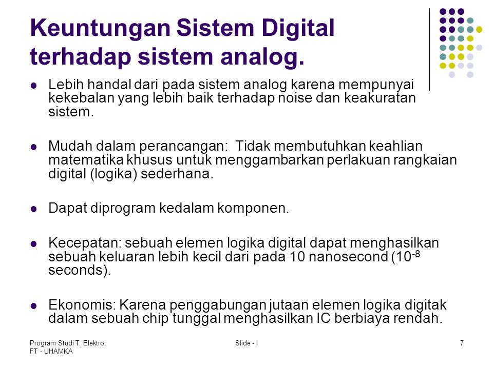 Keuntungan Sistem Digital terhadap sistem analog.