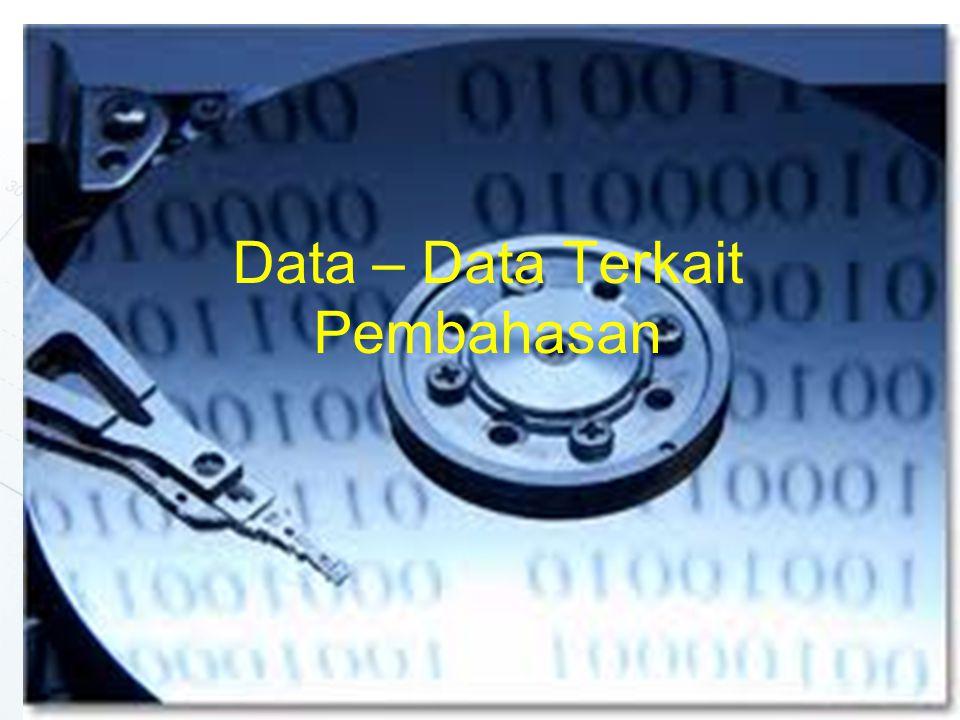 Data – Data Terkait Pembahasan