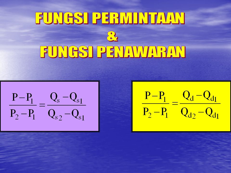 FUNGSI PERMINTAAN & FUNGSI PENAWARAN