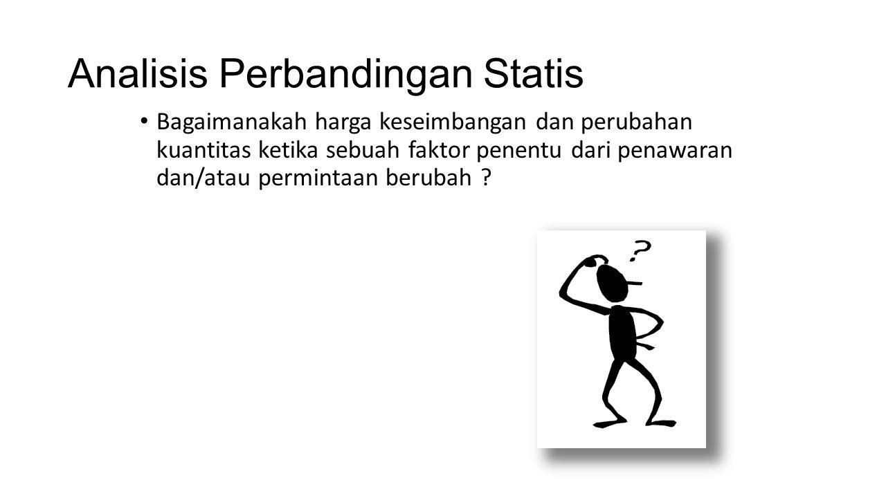 Analisis Perbandingan Statis