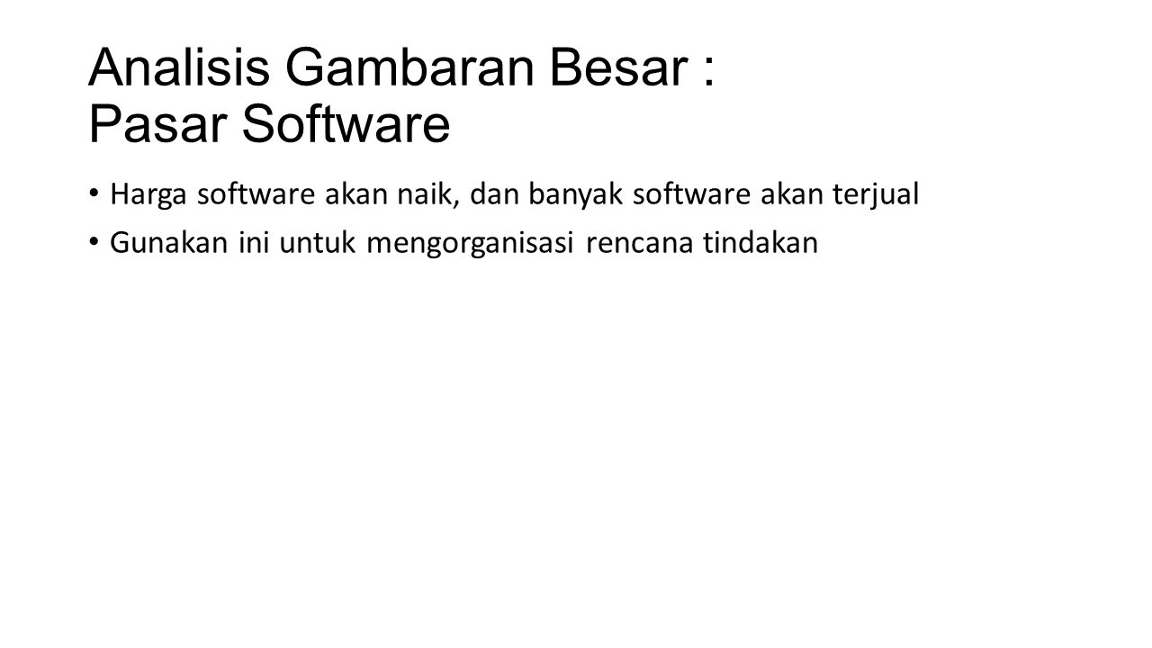 Analisis Gambaran Besar : Pasar Software