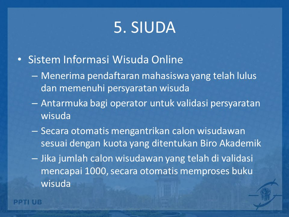 5. SIUDA Sistem Informasi Wisuda Online