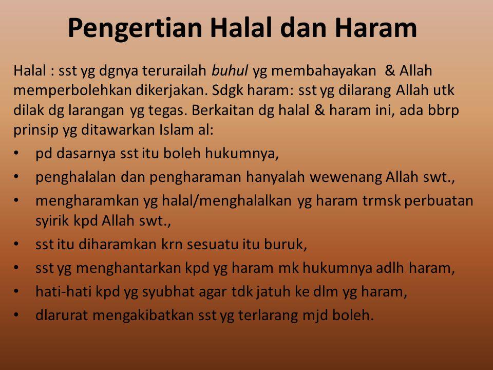 Pengertian Halal dan Haram