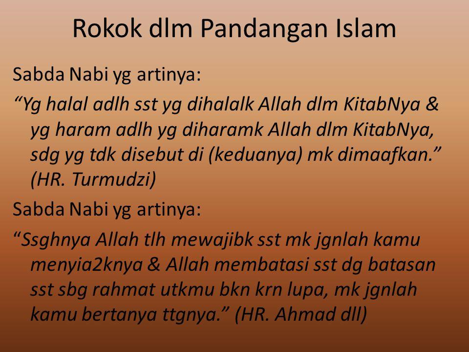 Rokok dlm Pandangan Islam