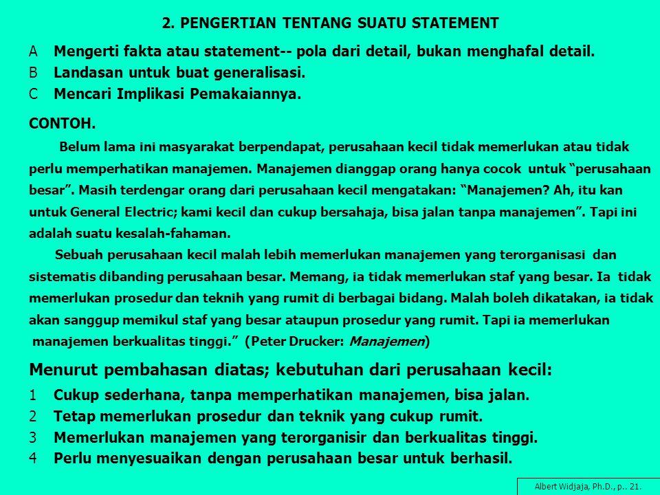 2. PENGERTIAN TENTANG SUATU STATEMENT