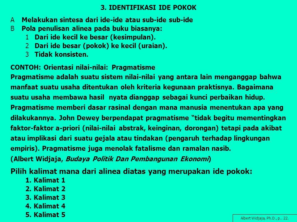 3. IDENTIFIKASI IDE POKOK