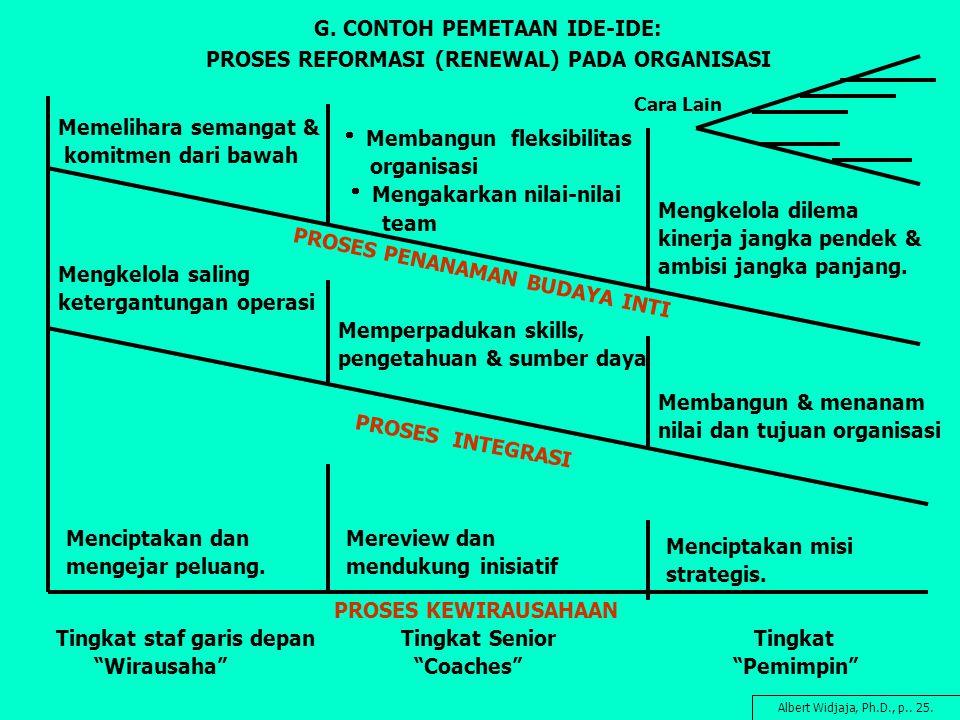 G. CONTOH PEMETAAN IDE-IDE: PROSES REFORMASI (RENEWAL) PADA ORGANISASI