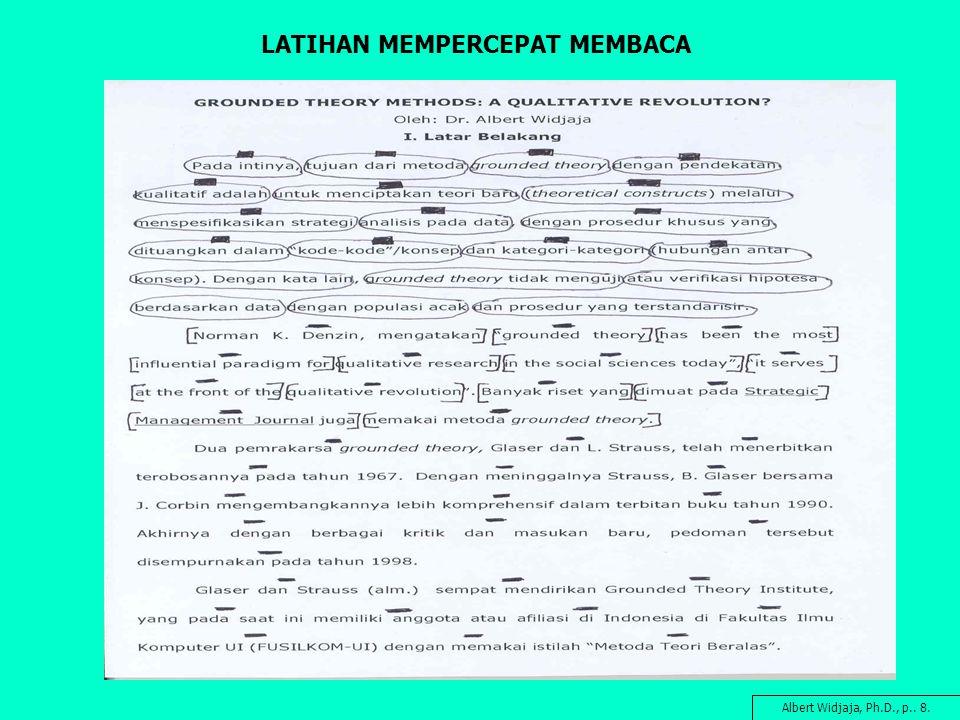 LATIHAN MEMPERCEPAT MEMBACA