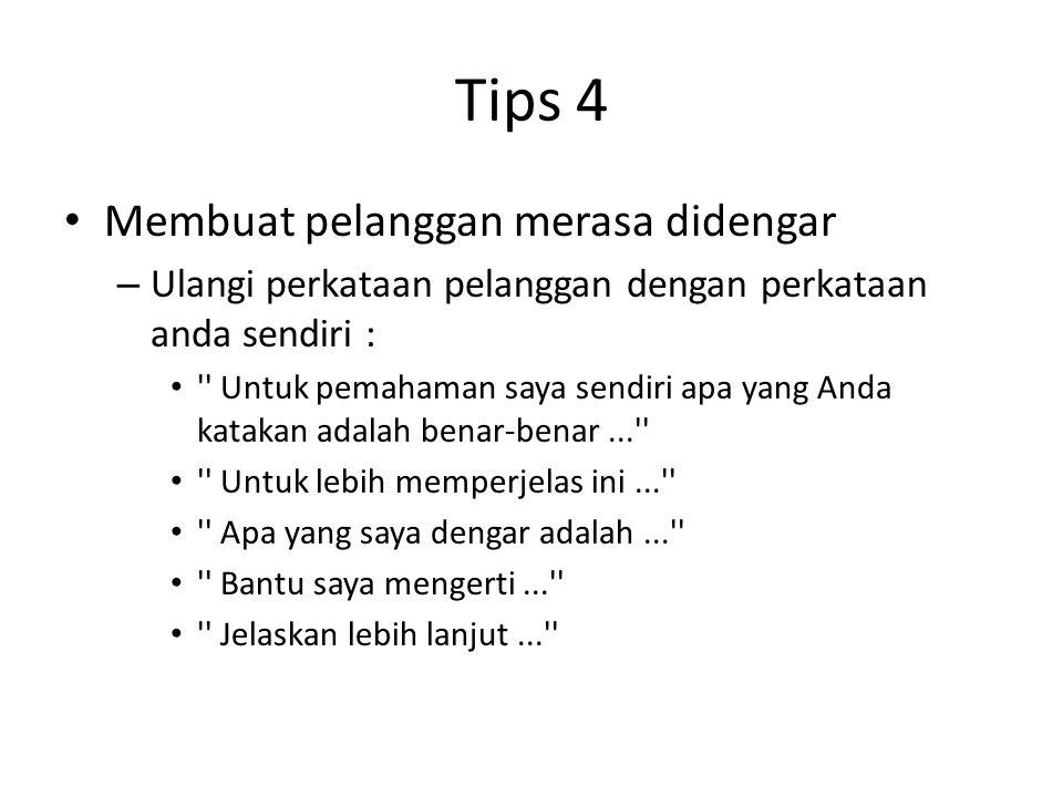 Tips 4 Membuat pelanggan merasa didengar
