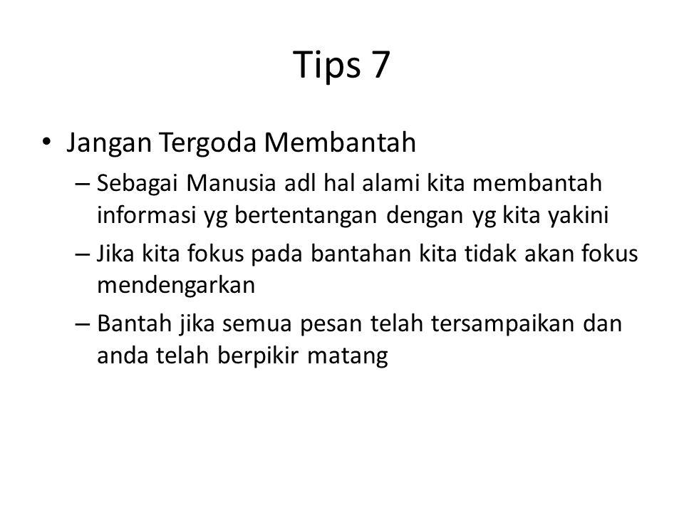 Tips 7 Jangan Tergoda Membantah