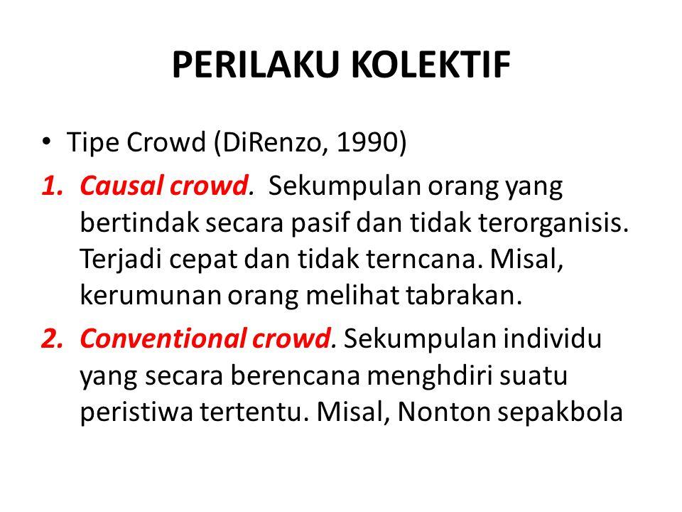 PERILAKU KOLEKTIF Tipe Crowd (DiRenzo, 1990)