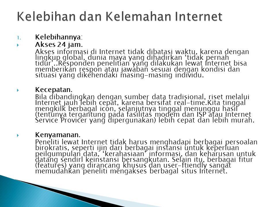 Kelebihan dan Kelemahan Internet
