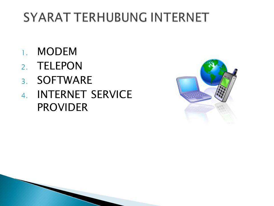 SYARAT TERHUBUNG INTERNET